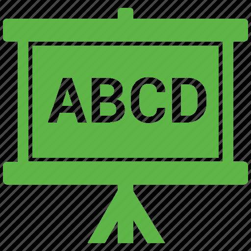 abcd, board, notice, noticeboard icon
