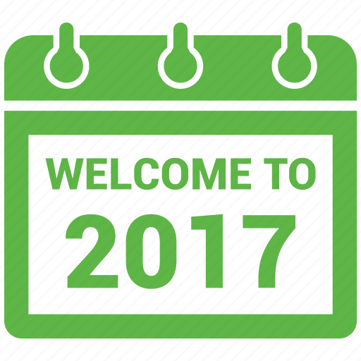 calendar, month, schedule, welcome 2017 icon