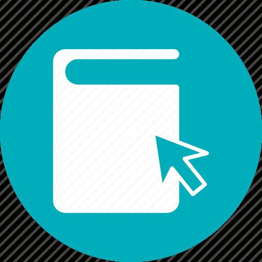 book, books, click, directory, library icon