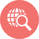 design, development, globe, search icon