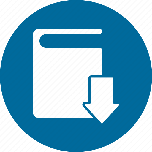 arrow, book, books, directory, download, library icon
