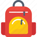 bag, school bag, shoulder bag, student bag icon icon