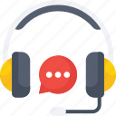 bubble, chat, customer, headphone, representative, service icon icon