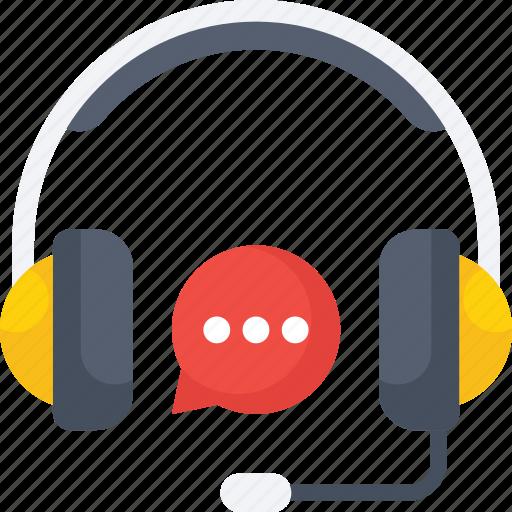 bubble, chat, customer, headphone, representative, service icon icon