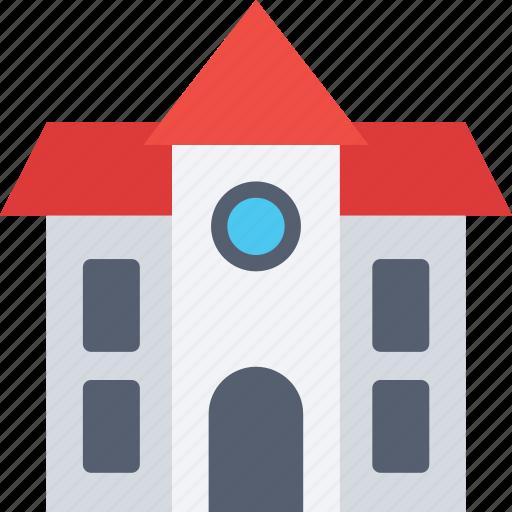 building, campus, front, house, school, school ..., school building icon