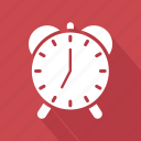 alram, clock, morning, ringing, time, wake icon