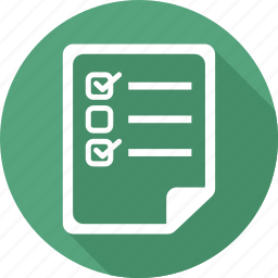 check, document, file, paper, text icon