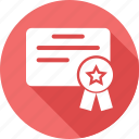 award, award badge, award ribbon, badge, paper, star badge icon