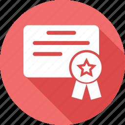 award, award badge, award ribbon, badge, paper, star badge icon
