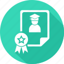 certificate, degree, document, documents, paper icon
