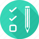 check, edit, pencil, write icon