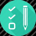 check, edit, pencil, write icon