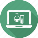 chemistry, lab, laptop icon