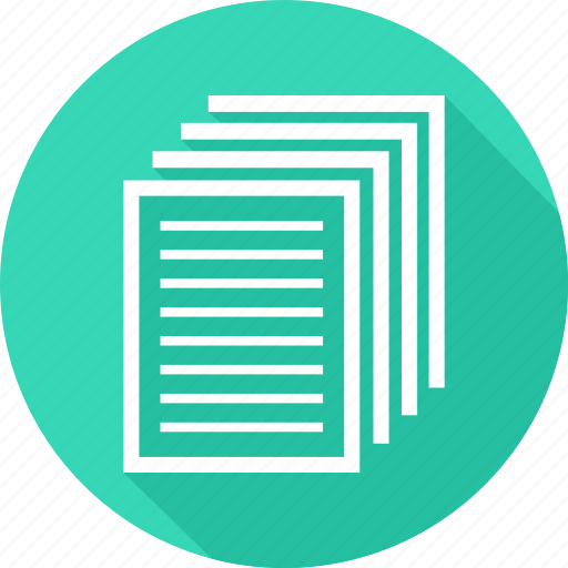 documents, paper, sheets of paper icon