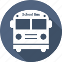 education, school bus, transport icon