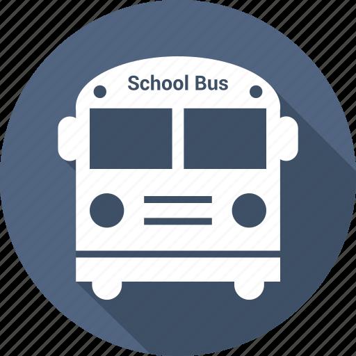 education, school bus, transport icon