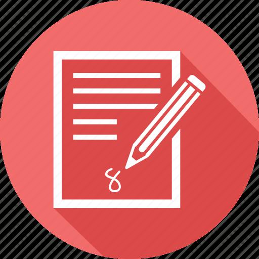pencil, writing icon