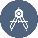 compass, geometry, tool, tools icon