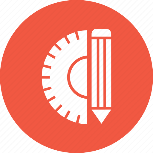 measure, pencil, ruler, tool, triangle icon