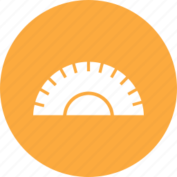 measure, ruler, tool, triangle icon
