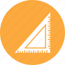 measure, ruler, tool, triangle icon