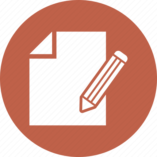 document, paper, pencil, write icon