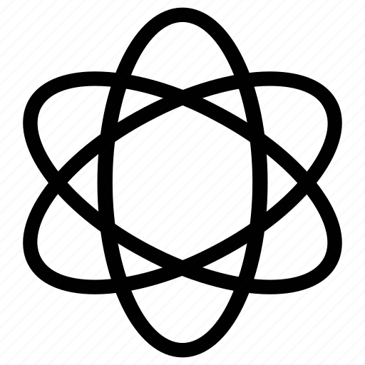atom, atom sign, atomic, molecule icon