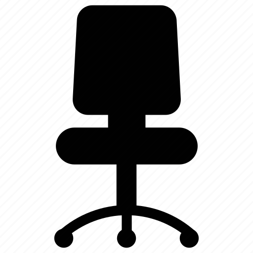 chair, office chair, office furniture, revolving chair icon