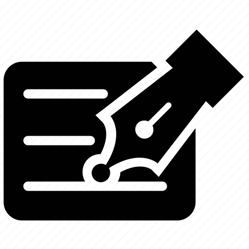 inkpen, nib, pen, text icon