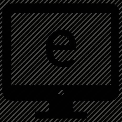 display, exploring, monitor, screen icon