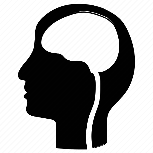 brain, head, human brain, human head icon