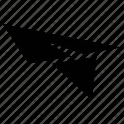 flying symbol, paper jet, paper plane, plane icon