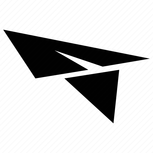 flying symbol, paper jet, paper plane, plane icon