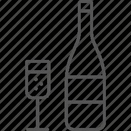 bottle, bubble, celebrate, champaign, congratulating, glass, toast icon