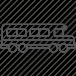 bus, children, drive, pupil, school, traffic, transport icon