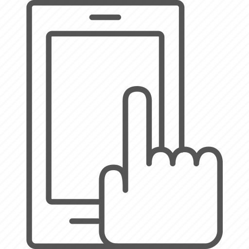 finger, phone, pointing, smart, smartphone, tap, touch icon