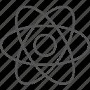 atom, biotechnology, chemistry, molecule, nano, nucleus, science icon