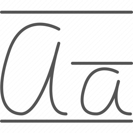 Calligraphy cursive font handwritten letter writing
