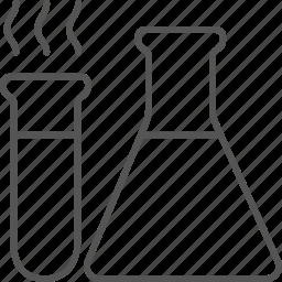 equipment, experiment, flask, laboratory, liquid, research icon