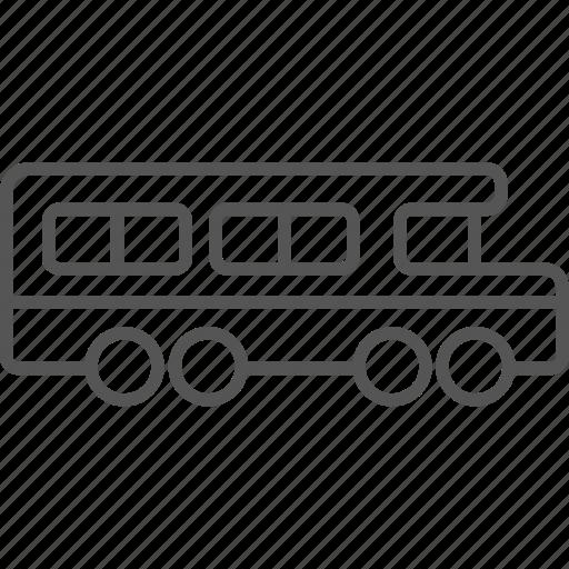 bus, public, route, school, transportation, vehicle icon