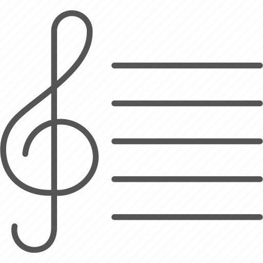 clef, melody, music, notes, song, staff, treble icon