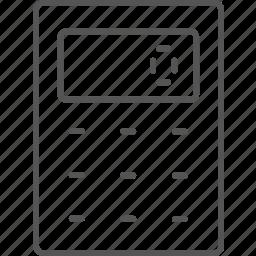 calculator, electronic, mathematics, number, school, tool icon