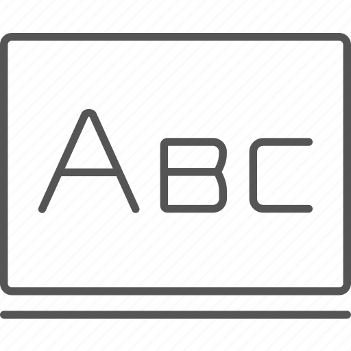 abc, alphabet, blackboard, language, letters, study icon