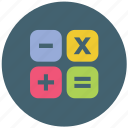 calculation, calculator, math, numbers icon