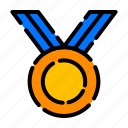 achievement, award, badge, charter, medal, reward, trophy