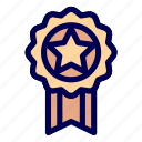 badge, medal, prize, reward icon