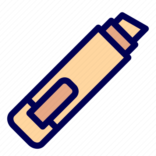 highlighter, mark, stationery icon