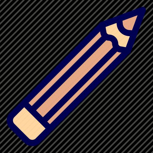 pencil, stationery, write icon