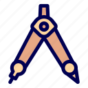 compass, stationery icon