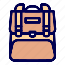 college, school, traveler icon
